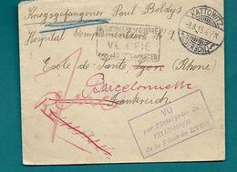 WW1 - Prisonnier De Guerre Allemand - Dépôt BARCELONNETTE (Basses Alpes) - 1915 . KATTOWITZ (pologne) - Guerre De 1914-18