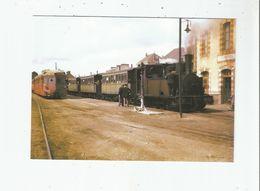 PAIMPOL (22) 182 TRAIN DE VOYAGEURS EN GARE 1955 LOCOMOTIVE 030 T N° 39 CORPET LOUVET ET AUTORAIL RENAULT TYPE ABH6 - Paimpol