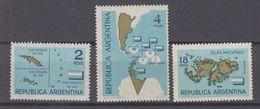 Argentina Mi# 834-36 ** MNH Malvinas Falkland 1964 - Argentine