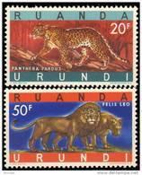 Ruanda 0216A & 216B** Panthère & Lions  - MNH- - Ruanda-Urundi