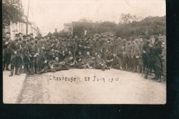 CPA021.....CARTE PHOTO CHEVREUSE ....MILITAIRES LE 29 JUIN 1910 - France