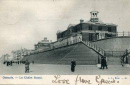 BELGIUM -  Ostende La Chalet Royal - Undivided Rear VG 1905 Postmark Etc - Oostende