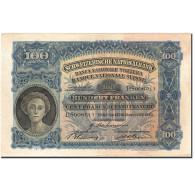 Billet, Suisse, 100 Franken, 1921-1928, 1943-12-02, KM:35q, TTB+ - Suiza