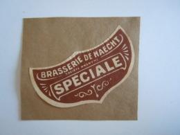 Label Etiquette Brasserie De Haecht Speciale Bier Bière Brouwerij Form 7,5 X 4 Cm Gelijmd Collée - Bier