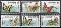 Cambogia 1998 Sc. 1721-1726 Farfalle Butterfly Papillons Mariposas - Full Set CTO Cambodia Cambodge - Cambogia