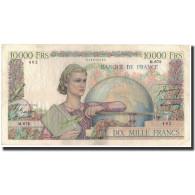 France, 10,000 Francs, 1950-02-02, KM:132b, TTB, Fayette:50.29 - 10 000 F 1945-1956 ''Génie Français''