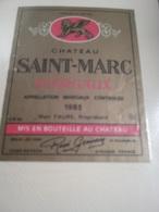 Lot 280~ étiquettes Vin Bordelais -oenographilie -issues D'une Collection Privée - Bordeaux