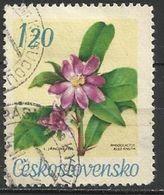 Cecoslovacchia Lotto N.189  Del 1967 Yvert N.1589 Usato Fiori Del Giardino Botanico - Gebraucht