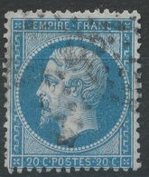 Lot N°40549  Variété/n°22, Oblit étoile Chiffrée 3 De PARIS (Pl De La Madeleine), Point Blanc Aprés S De POSTES - 1862 Napoleon III