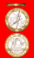 √ NUDE SPIRIT OF FREEDOM: FRANCE ★10 FRANCS 1991 Extra Reeds On Edge UNPUBLISHED! LOW START ★ NO RESERVE! - Francia