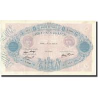France, 500 Francs, 1937-08-05, KM:88a, TTB+, Fayette:31.1 - 1871-1952 Anciens Francs Circulés Au XXème