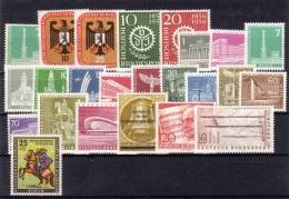 Berlin  Année Complete  Yvert  1956  * *  TB  Voir Scan Et Description - Unused Stamps
