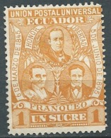 Equateur - Yvert N° 75  *  -  Po56506 - Equateur