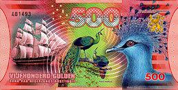 500 Gulden 2016 UNC  POLYMER 20 Novembre 2016 Paon Spicifere; Homme Netherlands East Indies (Indonesia), - Indonésie