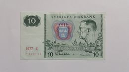 SVEZIA 10 KRONOR 1977 - Suède