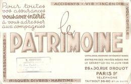 VP-GF.18-15 Jmt: BUVARD ASSURANCES LE PATRIMOINE. PARIS. RUE DROUOT. - Buvards, Protège-cahiers Illustrés