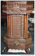 Antique Crafted Teak Rostrum Of Traditional Moslem Malay - Furniture