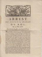 ARRET DU CONSEIL D'ETAT DU ROI 1766 - Decrees & Laws