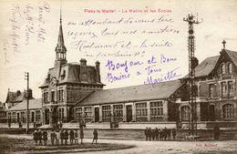 FLAVY-LE-MARTEL , La Mairie Et Les écoles - France