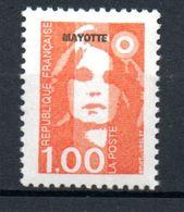 "MAYOTTE  - 1997: Timbres De France Surchargés ""MAYOTTE"" -  (N° 35**)  1F Orangre - Nuovi"