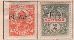 1918-19 Fiume Giornali Serie Cpl - 8. Occupazione 1a Guerra