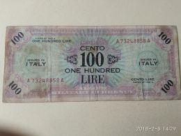 100 Lire 1943  Bilingue - [ 3] Military Issues