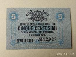Cassa Veneta Prestiti 1918  5 Centasimi - [ 4] Emissions Provisionelles