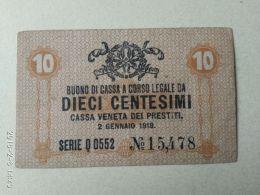 Cassa Veneta Prestiti 1918 10 Centasimi - [ 4] Emisiones Provisionales