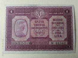 Cassa Veneta Prestiti 1918 1 Lira - [ 4] Emissioni Provvisorie