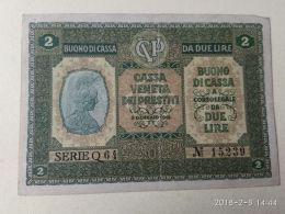 Cassa Veneta Prestiti 1918 2 Lire - [ 4] Emissions Provisionelles