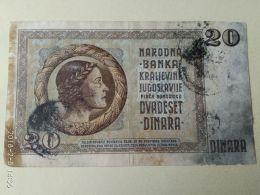 Occupazione Italiana Montenegro 20 Dinari 1935 - Unclassified