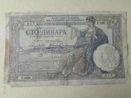 Occupazione Italiana Montenegro 100 Dinari 1941 - [ 6] Colonies