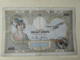 Occupazione Italiana Montenegro 1000 Dinari 1931 - [ 6] Kolonies