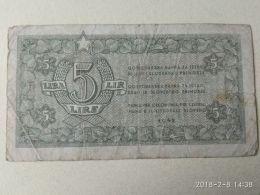 Istria Litorale Sloveno 5 Lire 1945 - Unclassified