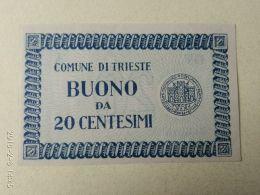Comune Di Trieste 20 Centesimi 1945 - Buoni Di Cassa