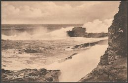 Rough Sea, Tintagel, Cornwall, C.1905-10 - Webber Postcard - England