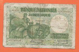 Billet 50FR Ou 10 Belgas  -  1930 - 50 Francs-10 Belgas