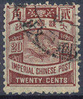 Stamp China Coil Dragon 20c Used  Lot#172 - China