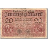 Billet, Allemagne, 20 Mark, 1917-1918, 1918-02-20, KM:57, B - [ 2] 1871-1918 : Empire Allemand