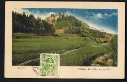WILTZ - LUXEMBOURG- Chateau Et Vallée De La Wiltz -  Voyagée 1924-   Recto Verso  -Paypal Sans Frais - Wiltz