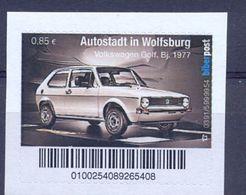 Germany Stamp Mnh** Biber Post Autostadt Wolfsurg Automobile Volkswagen Golf - Auto's