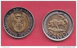 SOUTH AFRICA, 2016, Coin 5 Rands, Wildebeest, Very Good Condition, C1480B - South Africa