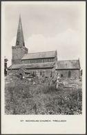 St Nicholas Church, Trellech, Monmouthshire, C.1930s - RP Postcard - Monmouthshire