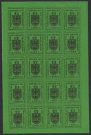ITALIA 1918 OCCUPAZIONE MERANO FOGLIETTO SENZA GOMMA - Merano