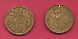 SOUTH AFRICA, 2008, 3 Off Nicely Used Coins 20 Cent C2104 - South Africa