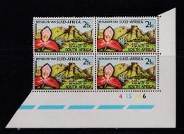 SOUTH AFRICA, 1963, MNH Control Block Of 4, Botanic Garden, M 313 - South Africa (1961-...)