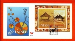 RSA, 1995, Mint First Day Cover Nr. 6-26, United Nations Block 40 Unesco, SACCnr(s) - FDC