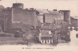 CPA -  106. Brest - Le Château Et L'avant Port - Brest