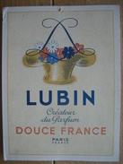 Originale Ancienne (1947) Plaque Publicitaire LUBIN Créateur Du Parfum DOUCE FRANCE - Paperboard Signs