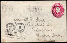 British East Africa & Uganda Protectorates To USA Taxed Cover 1911 - Kenya, Uganda & Tanganyika